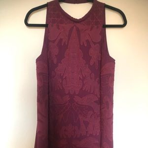 Dresses & Skirts - Maroon Embroidered Shift dress